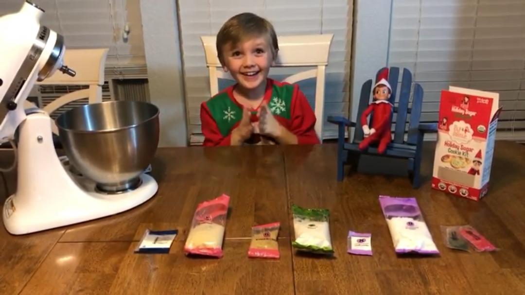 The Elf on The Shelf Sugar Cookies.