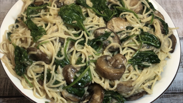 Creamy Spinach and Mushroom Pasta Recipe