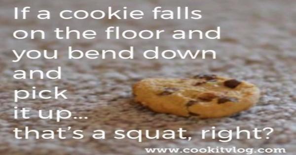 Cookie on the floor